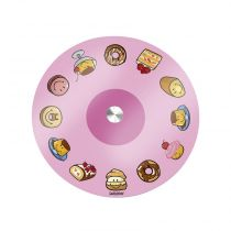 "Plateau Tournant en Verre ""Smiley World®"" Rose"