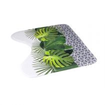 "Tapis Contour WC ""Graphic Jungle"" 45x45cm Vert"