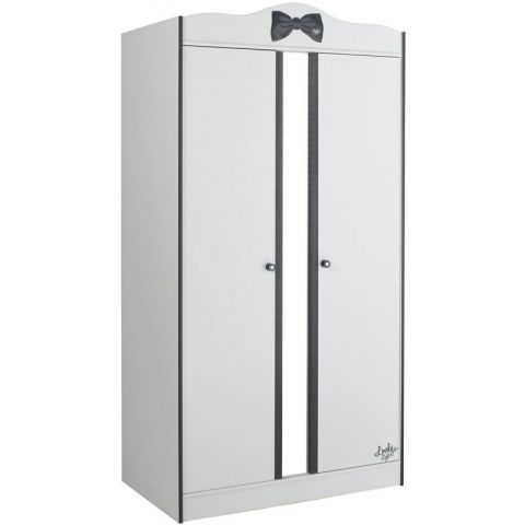 "Armoire 2 Portes ""Cambridge"" Blanc"