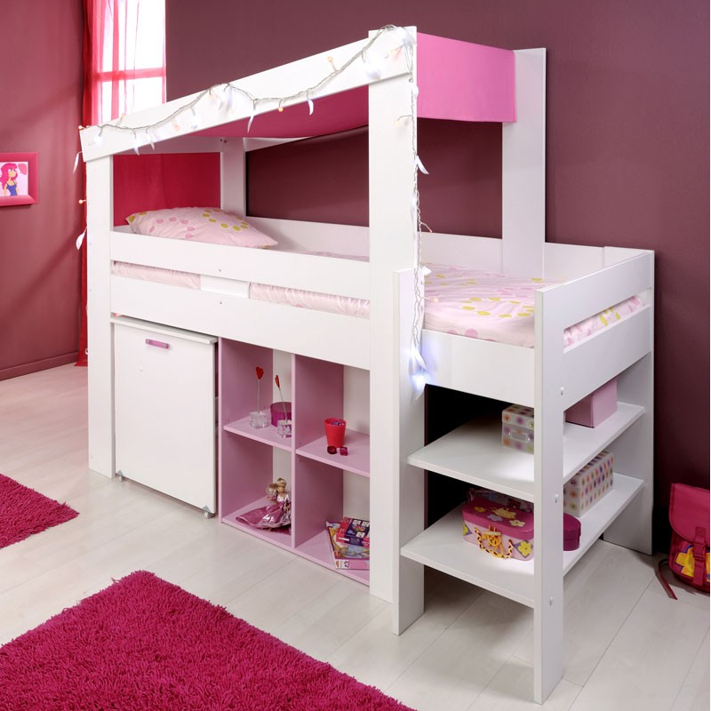 lit enfant combin lily blanc. Black Bedroom Furniture Sets. Home Design Ideas