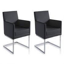 "Lot de 2 Chaises Design ""Rodrigo"" 87cm Noir"