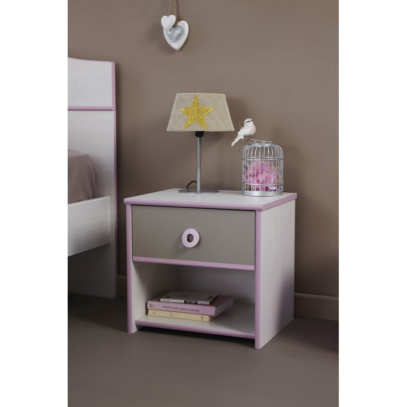chevet enfant dream rose. Black Bedroom Furniture Sets. Home Design Ideas