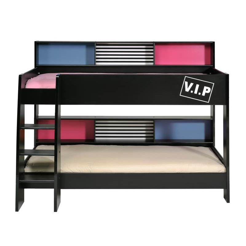 lit superpos enfant petra noir. Black Bedroom Furniture Sets. Home Design Ideas