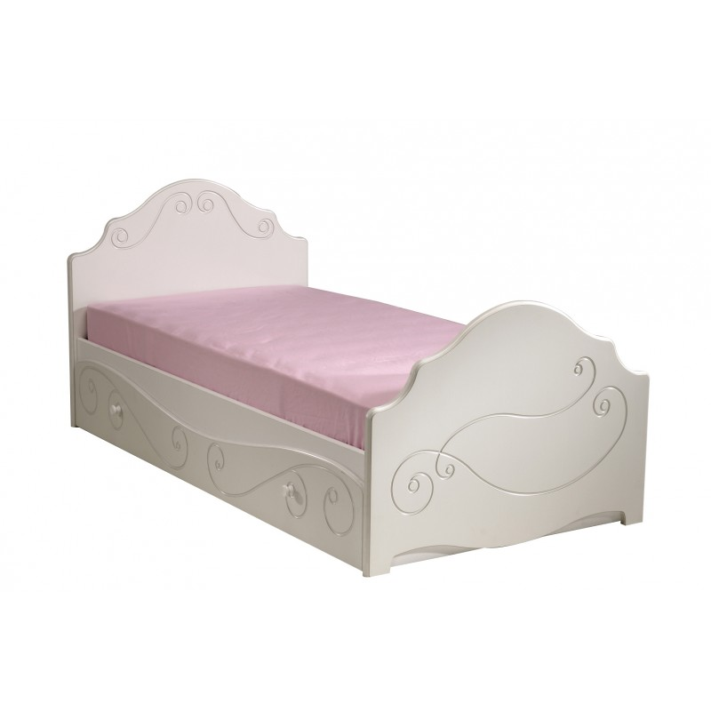 tiroir de lit enfant betty 90x200cm blanc. Black Bedroom Furniture Sets. Home Design Ideas