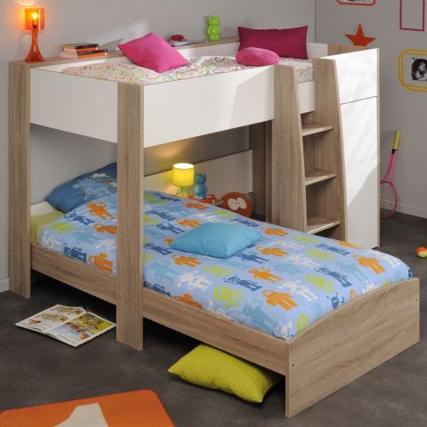 Lit superpos enfant cosmo beige - Lit enfant superposer ...