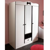 "Armoire 3 Portes ""Cambridge"" Blanc"