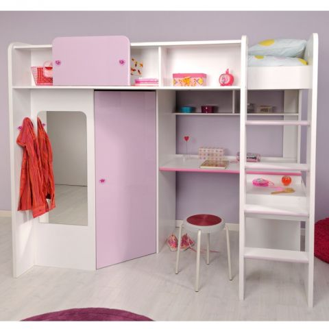 "Mezzanine Enfant ""Girly"" Blanc"