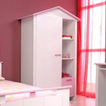 """Armoire Cabine """"Lily"""" Blanc"""