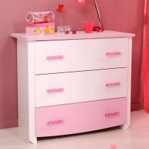 "Commode 3 Tiroirs ""Lily"" Blanc"