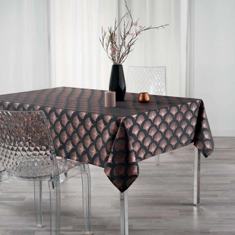 """Nappe Rectangle """"Goldy"""" 150x300cm Anthracite"""
