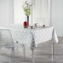 "Nappe Rectangle ""Goldy"" 150x300cm Blanc"
