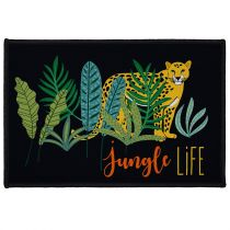 "Tapis Déco Rectangle ""Mystic Jungle"" 40x60cm Noir"