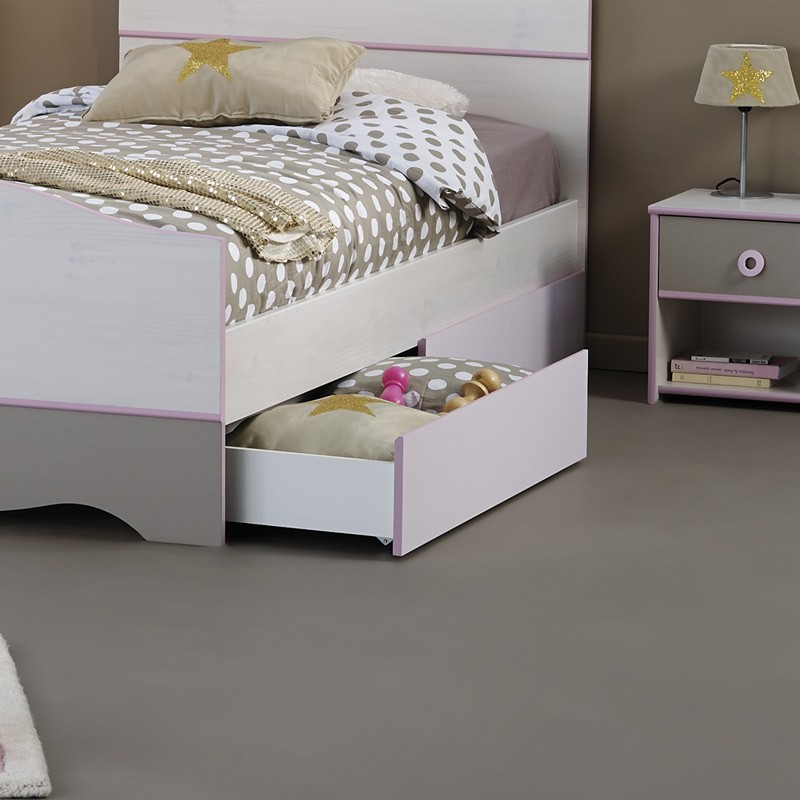 tiroir de lit enfant dream rose. Black Bedroom Furniture Sets. Home Design Ideas