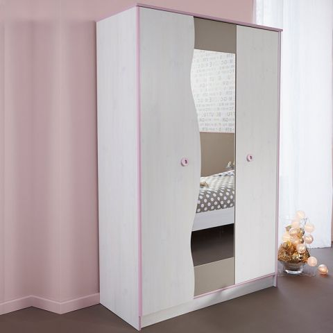 "Armoire 3 Portes ""Dream"" Rose"