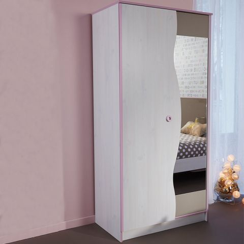 "Armoire 2 Portes ""Dream"" Rose"