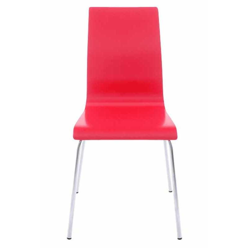 Chaise design tina rouge - Chaise rouge design ...