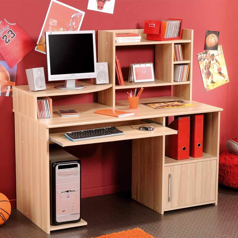 bureau enfant jordan bois clair. Black Bedroom Furniture Sets. Home Design Ideas