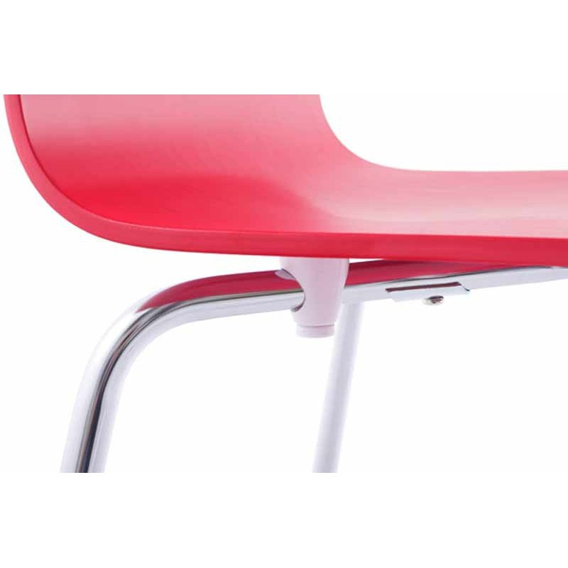 chaise design tina rouge