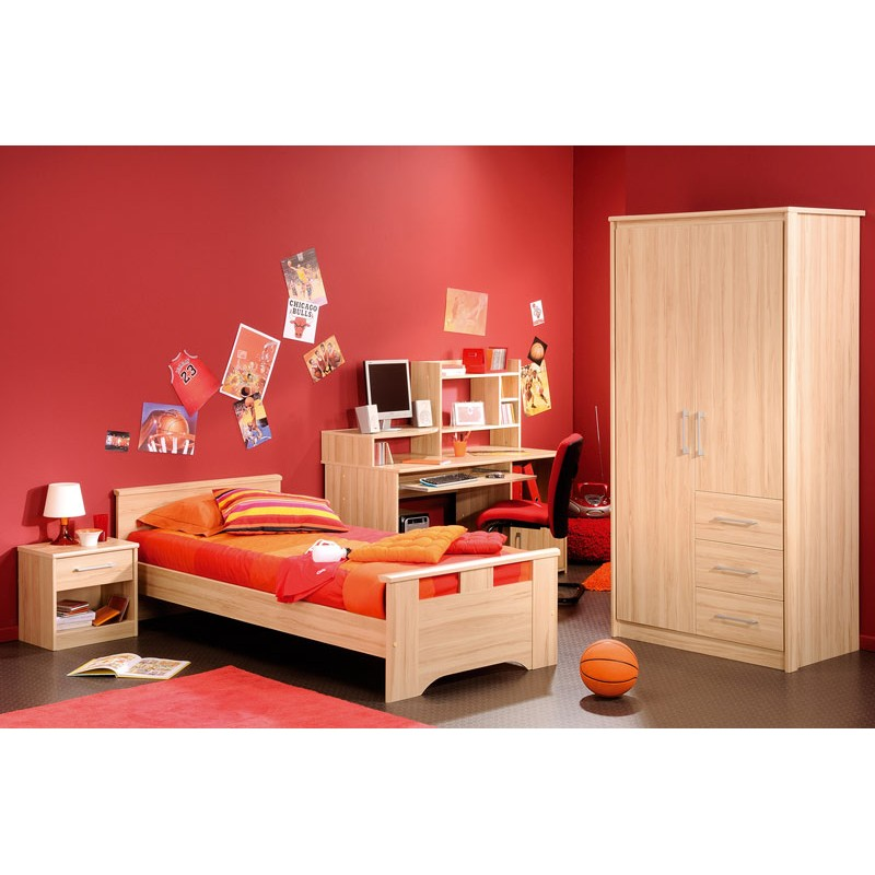 lit enfant 90x200 jordan bois clair. Black Bedroom Furniture Sets. Home Design Ideas