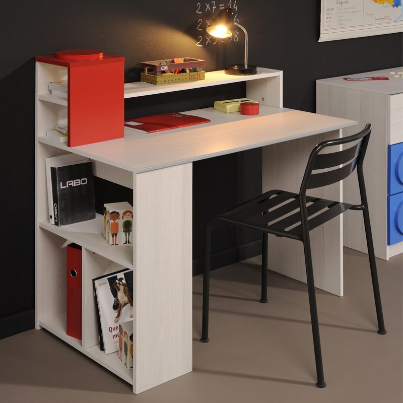 bureau enfant toys fr ne nordique rouge. Black Bedroom Furniture Sets. Home Design Ideas