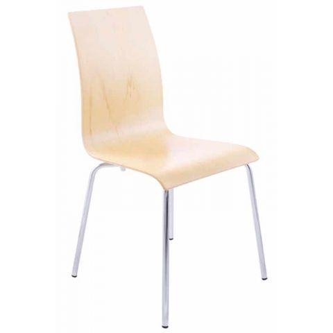 Chaise design Tina Bois naturel