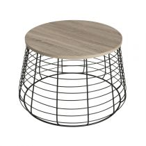 "Table Basse Ronde Design ""Fawn"" 70cm Naturel"