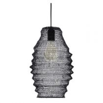 "Suspension Design Maille en Fer ""Ali"" 36cm Noir"