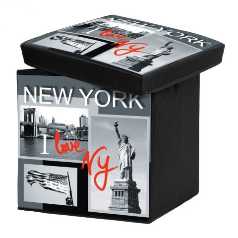 Pouf de Rangement Pliable I Love New York