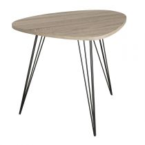 "Table d'Appoint Scandinave ""Fawn"" 60cm Naturel"