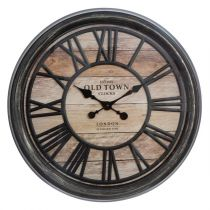 "Horloge Murale Design ""Relief"" 50cm Naturel"