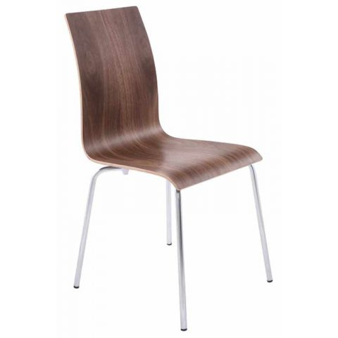 Chaise design Epura Noyer