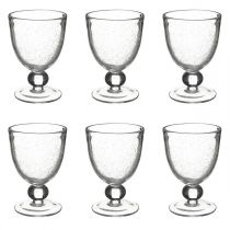 "Lot de 6 Verres à Vin Design ""Cluster"" 32cl Transparent"