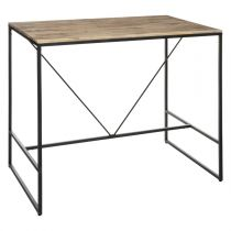"Table de Bar Design ""Edena"" 70x115cm Noir"
