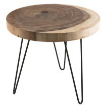"Table d'Appoint Scandinave ""Neicle"" 48cm Naturel"