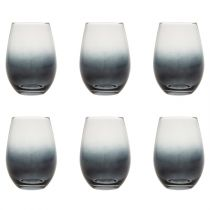 "Lot de 6 Gobelets en Verre Fumé ""Lodge"" 54cl Gris"