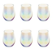 "Lot de 6 Gobelets en Verre ""Fantasy"" 54cl Transparent"