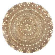 "Tapis Rond en Jute ""Gold Shine"" 115cm Naturel & Or"