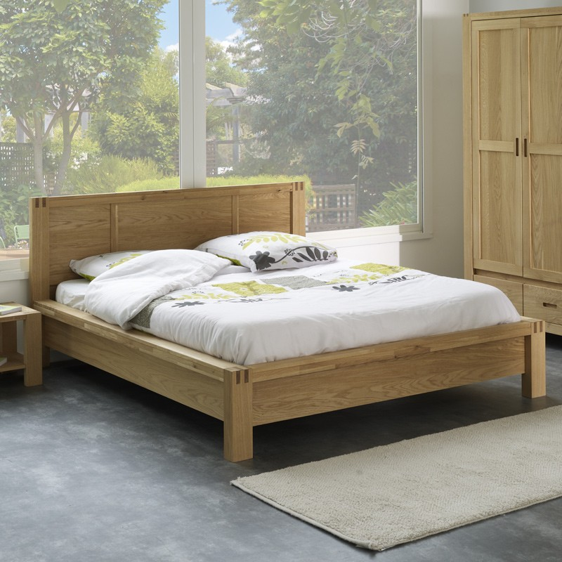 lit adulte 140x190cm forest beige. Black Bedroom Furniture Sets. Home Design Ideas