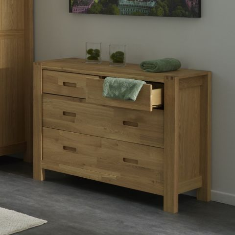 """Commode 4 Tiroirs """"Forest"""" Beige"""