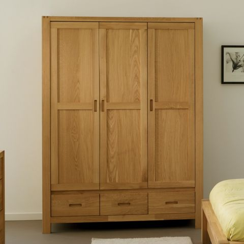"""Armoire 3 Portes """"Forest"""" Beige"""