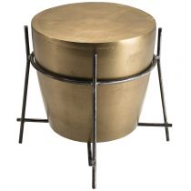 """Table d'Appoint Ronde Aluminium """"Trax"""" 45cm Or"""