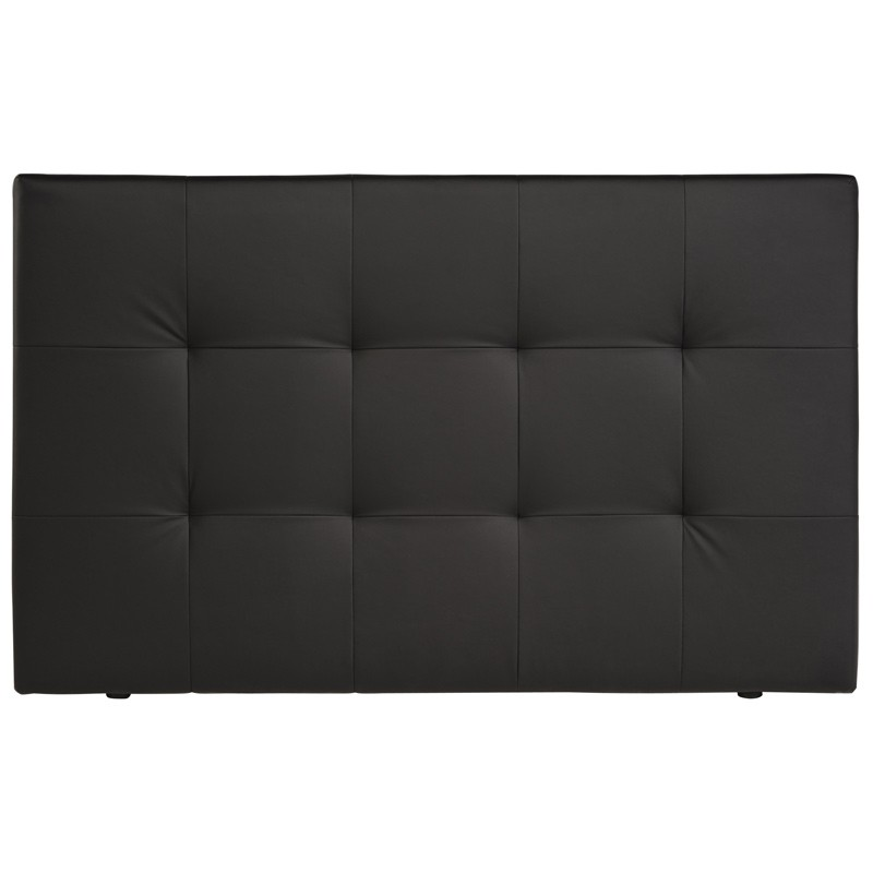 t te de lit adulte capitonn e manon noir. Black Bedroom Furniture Sets. Home Design Ideas