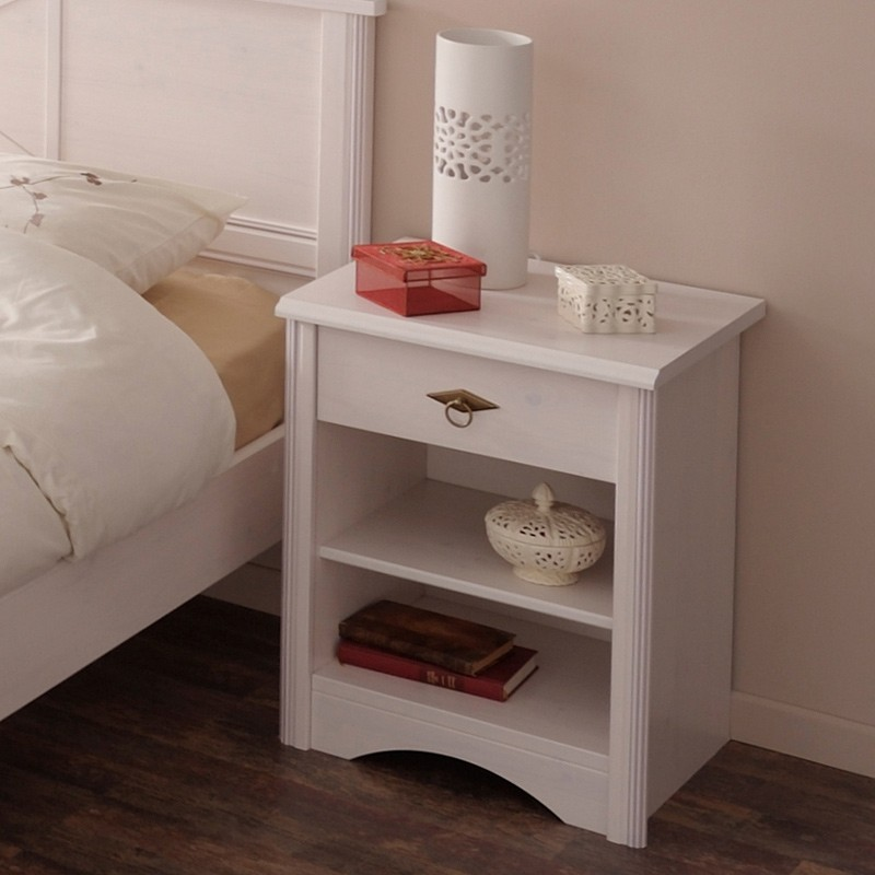 Chevet adulte charme blanc - Table de chevet cdiscount ...