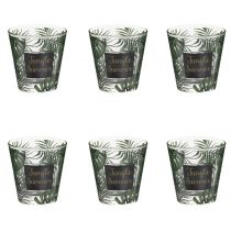 "Lot de 6 Gobelets en Verre ""Jungle Summer"" 25cl Multicolore"
