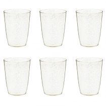 "Lot de 6 Gobelets Design ""Paillettes"" 38cl Or"