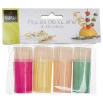 "Lot de 4 Pots à Cure-Dents ""Teath"" 6cm Multicolore"