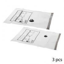 "Lot de 3 Sacs de Rangement ""Air Roll"" 70cm Blanc"