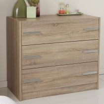 "Commode 3 Tiroirs ""Wood"" Beige"