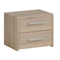 "Chevet Adulte 2 Tiroirs ""Wood"" Beige"