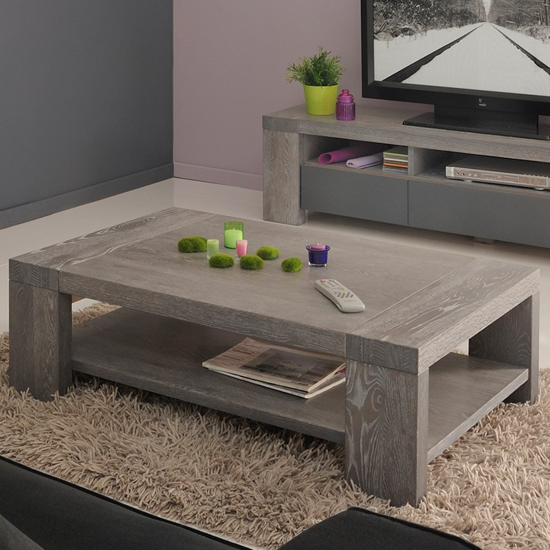 table basse th o gris. Black Bedroom Furniture Sets. Home Design Ideas
